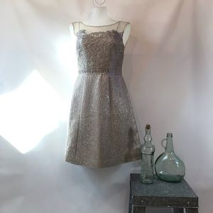 Kay Unger NWT Metallic Party Dress